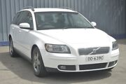 2007 Volvo V50 MY07 D5 Alpine White 5 Speed Sports Automatic Wagon Blair Athol Port Adelaide Area Preview