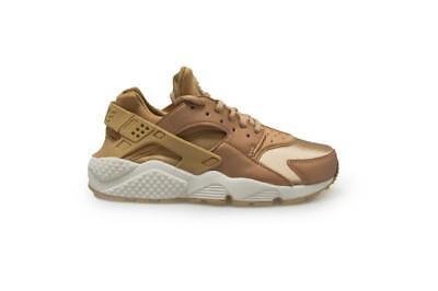 Details zu Womens Nike Air Huarache Run SE 859429 900 Mettalic Rose Gold Bronze Elm Tra