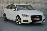 2017 Audi A3 8V MY18 Sportback S tronic Ibis White 7 Speed Sports Automatic Dual Clutch Hatchback Slacks Creek Logan Area Preview