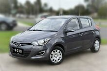 2014 Hyundai i20 PB MY14 Active Grey 4 Speed Automatic Hatchback Berwick Casey Area Preview