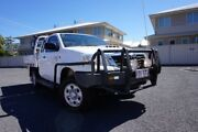 2012 Toyota Hilux KUN26R MY12 SR Xtra Cab Glacier White 5 Speed Manual Cab Chassis Dalby Dalby Area Preview