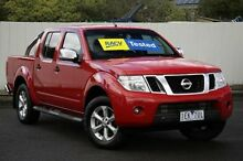 2012 Nissan Navara D40 S5 MY12 ST-X 550 Red 7 Speed Sports Automatic Utility Lilydale Yarra Ranges Preview