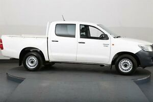 2012 Toyota Hilux TGN16R MY12 Workmate White 5 Speed Manual Dual Cab Pick-up Smithfield Parramatta Area Preview