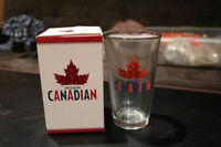Molson Canadian Beer Glass 6 FOR $20.00