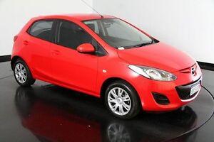 2011 Mazda 2 DE10Y1 MY10 Neo Red 5 Speed Manual Hatchback Victoria Park Victoria Park Area Preview