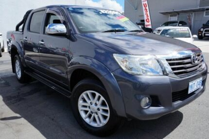 2012 Toyota Hilux GGN25R MY12 SR5 Double Cab Grey 5 Speed Automatic Utility