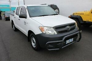 2008 Toyota Hilux TGN16R MY08 Workmate White 5 Speed Manual Utility Devonport Devonport Area Preview