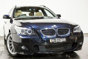 2009 BMW 530i E61 MY08 Touring Steptronic Black 6 Speed Sports Automatic Wagon Rozelle Leichhardt Area Preview