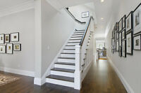 Staircase painting and complete home painters at your service!