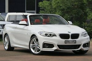 2015 BMW 2 F23 20I M-Sport White 8 Speed Automatic Convertible Petersham Marrickville Area Preview
