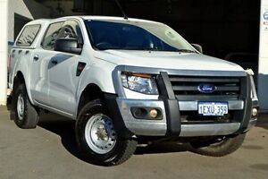 2012 Ford Ranger PX XL Double Cab White 6 Speed Manual Utility Midland Swan Area Preview