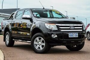 2013 Ford Ranger PX XLT Double Cab Black 6 Speed Sports Automatic Utility East Rockingham Rockingham Area Preview