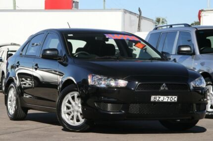 2011 Mitsubishi Lancer CJ MY11 SX Sportback Black 6 Speed CVT Auto Sequential Hatchback Arncliffe Rockdale Area Preview