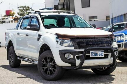 2014 Ford Ranger PX Wildtrak Double Cab White 6 Speed Sports Automatic Utility Myaree Melville Area Preview