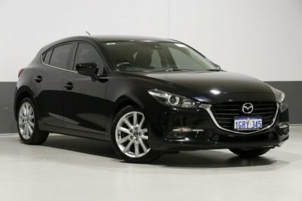 2016 Mazda 3 BM MY15 SP25 Black 6 Speed Automatic Hatchback Bentley Canning Area Preview