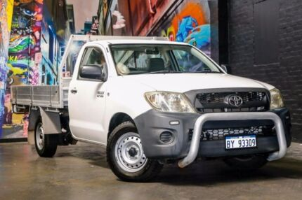 2008 Toyota Hilux TGN16R MY08 Workmate White 5 Speed Manual Cab Chassis