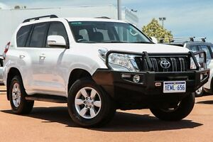 2014 Toyota Landcruiser Prado KDJ150R MY14 GXL White 5 Speed Sports Automatic Wagon East Rockingham Rockingham Area Preview