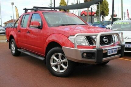 2013 Nissan Navara D40 S6 MY12 ST Red 6 Speed Manual Utility Willagee Melville Area Preview