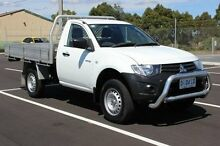 2013 Mitsubishi Triton  White Manual Cab Chassis Devonport Devonport Area Preview