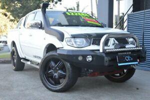 2014 Mitsubishi Triton MN MY15 GLX-R Double Cab Warrior White 5 Speed Manual Utility Ashmore Gold Coast City Preview