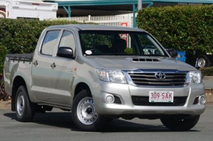 2011 Toyota Hilux KUN16R MY12 SR Double Cab Silver 5 Speed Manual Utility Acacia Ridge Brisbane South West Preview