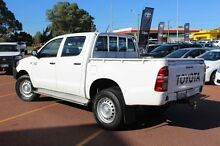 2014 Toyota Hilux KUN26R MY14 SR Double Cab White 5 Speed Automatic Cab Chassis Balcatta Stirling Area Preview