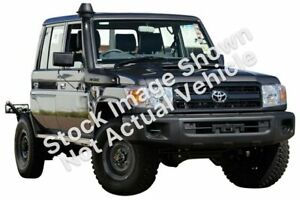 2012 Toyota Landcruiser VDJ79R MY13 Workmate Double Cab Grey 5 Speed Manual Cab Chassis Bellevue Swan Area Preview