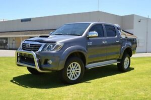 2013 Toyota Hilux KUN26R MY12 SR5 (4x4) Charcoal Grey 5 Speed Manual Dual Cab Pick-up Maddington Gosnells Area Preview