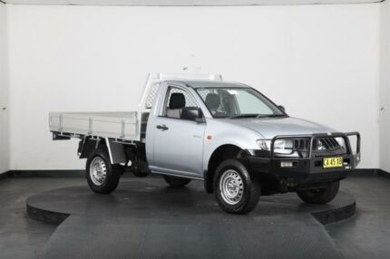 2007 Mitsubishi Triton ML MY08 GLX (4x4) Silver 5 Speed Manual 4x4 Cab Chassis Greenacre Bankstown Area Preview