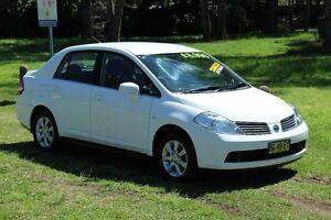 2009 Nissan Tiida C11 MY07 ST-L White 4 Speed Automatic Sedan Port Macquarie Port Macquarie City Preview