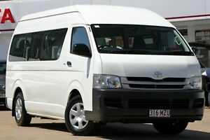 2010 Toyota Hiace KDH223R MY11 Commuter High Roof Super LWB White 4 Speed Automatic Bus Woolloongabba Brisbane South West Preview