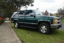1998 Chevrolet Tahoe K8 1500 LT 4X4 Forest Green Automatic Wagon Melbourne CBD Melbourne City Preview