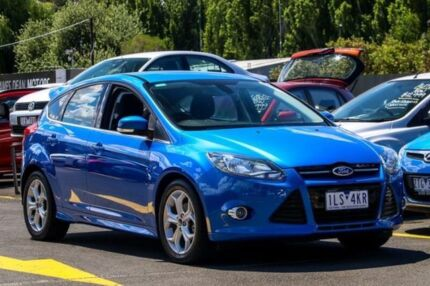 2012 Ford Focus LW Sport PwrShift Blue 6 Speed Sports Automatic Dual Clutch Hatchback Ringwood East Maroondah Area Preview