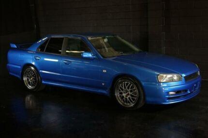 2001 Nissan Skyline R34 25GT Blue 5 Speed Manual Sedan