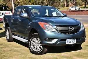 2012 Mazda BT-50 UP0YF1 GT Blue 6 Speed Sports Automatic Utility Wangara Wanneroo Area Preview