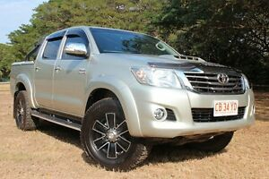 2013 Toyota Hilux KUN26R MY14 SR5 Double Cab Sterling Silver 5 Speed Automatic Utility The Gardens Darwin City Preview