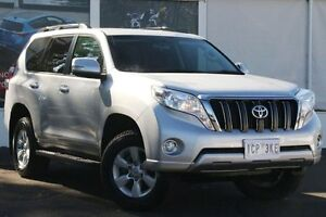 2014 Toyota Landcruiser Prado KDJ150R MY14 GXL Silver Pearl 5 Speed Sports Automatic Wagon Upper Ferntree Gully Knox Area Preview