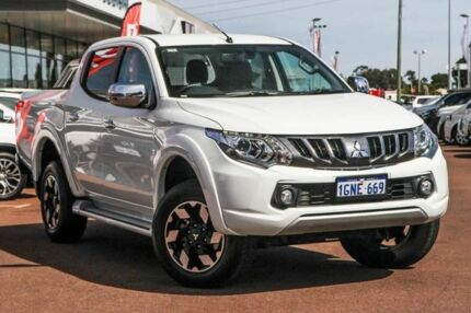 2018 Mitsubishi Triton MQ MY18 Exceed Double Cab White 5 Speed Sports Automatic Utility Cannington Canning Area Preview