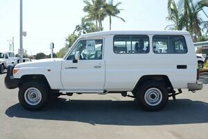2014 Toyota Landcruiser VDJ78R MY13 GXL Troopcarrier White 5 Speed Manual Wagon Acacia Ridge Brisbane South West Preview