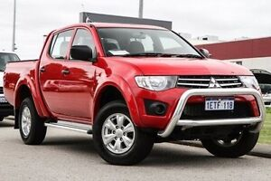 2015 Mitsubishi Triton MN MY15 GLX Double Cab Red 4 Speed Sports Automatic Utility East Rockingham Rockingham Area Preview