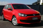 2013 Volkswagen Polo 6R MY13.5 Trendline DSG Red 7 Speed Sports Automatic Dual Clutch Hatchback Slacks Creek Logan Area Preview