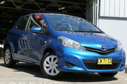 2013 Toyota Yaris NCP131R YRS Tidal Blue 4 Speed Automatic Hatchback