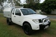 2011 Nissan Navara D40 MY11 RX King Cab White 6 Speed Manual Cab Chassis Ormeau Gold Coast North Preview