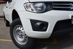 2011 Mitsubishi Triton MN MY11 GLX White 4 Speed Automatic Utility Homebush Strathfield Area Preview