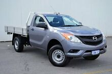 2014 Mazda BT-50 UP0YF1 XT Grey 6 Speed Manual Cab Chassis Midland Swan Area Preview