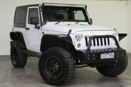 2014 Jeep Wrangler JK MY2014 Sport White 6 Speed Manual Softtop Southbank Melbourne City Preview