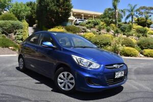 2016 Hyundai Accent RB3 MY16 Active Blue 6 Speed Manual Sedan St Marys Mitcham Area Preview