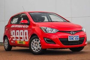 2014 Hyundai i20 PB MY14 Active Red 4 Speed Automatic Hatchback Wangara Wanneroo Area Preview