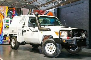 2009 Toyota Landcruiser VDJ79R Workmate White 5 Speed Manual Cab Chassis Northbridge Perth City Area Preview