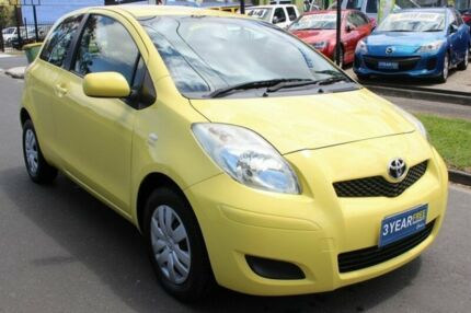 2008 Toyota Yaris NCP90R YR Yellow 5 Speed Manual Hatchback Tottenham Maribyrnong Area Preview